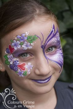 Colours Grime - vlinder en bloemen