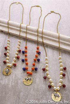 Fieldgoal #juliodesigns #handmadejewelry #vintage #summer2016collection