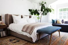Interior Designers Reveal Their Favorite Paint Colors #refinery29  http://www.refinery29.com/one-kings-lane/20#slide-3  Jason Chauncey & Allison Ross' BedroomJason Chauncey, the fourth-generation furniture designer behind Brownstone Upholstery, shares his Los Angeles home...