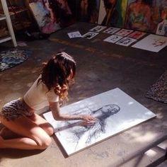 The Art of Artist Charmaine Olivia Studios D'art, Artist Workspace, Art Hoe Aesthetic, Photo Portrait, Finger Painting, Artist At Work, Art Inspo, Art Drawings, Art Photography