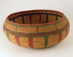 Africa | Shuku Blai from Sierra Leone | Shuku blai is a Temne name for a type of finely made and ornamented coil-weave basket, often made by women and used for keeping valuable objects safe.