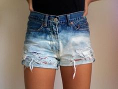 tie and dye shorts #DIY