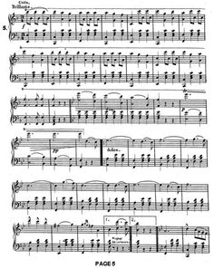 Page 5 of the Alexandroffsky Waltz, composed by Bihahc in 1875 and available from the National Archives.