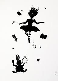 Αποτέλεσμα εικόνας για down the rabbit hole graphic