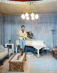 Elvis bought his first grand piano for Graceland for $795 from Jack Marshall in Memphis.5-28-57
