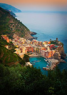 Vernazza From Above Photograph by Inge Johnsson - Vernazza From Above Fine Art Prints and Posters for Sale