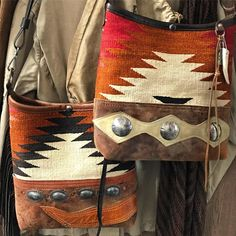 Seems like everything is pumpkin-this or pumpkin-that. Our seasonal offerings: Navajo 'pumpkin' bucket bags. Finished and ready for fall
