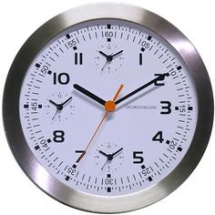 Metal Wall Clock with Extra Three Time Zone