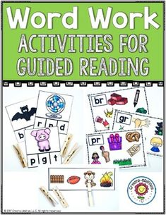 Word Work Activities for Guided Reading - This 200+ page resource has everything you need to make word work effectively come to life in your Kindergarten, 1st, or 2nd grade classroom or home school. You get letter recognition, letter sound relationship, beginning & ending sounds,blends, digraphs, writing, sight words, and other practice materials. Click through for all the details. {K, first, second graders, homeschool, literacy centers, balanced literacy, ELA, English Language Arts…