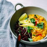 ginger sweet potato dal with coconut leeks » The First Mess // healthy vegan recipes for every season