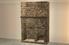 Image Victorian Kitchen, Medieval Castle, Cauldron, Sims 2, Fireplaces, Hearth, Appliances, Fantasy, Stone