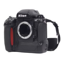 The big, beefy, wrestling champion great, great grandson of the Nikon F, the F5 is capable of shooting 8 frames per second and has a brilliant dynamic auto focus. #vintagecamera #camera #Film #photography #filmphotography #35mm #Nikon #SLR #NikonF5 #NikonF