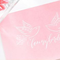 Loving Birds  | Fingertips Calligraphy Handwritten - no print! Perfect for V-Day ♥