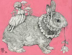 higuchiyuko: capi ギャラリー出品作品 https://www.facebook.com/burnetmoth ヒグチユウコ Yuko higuchi
