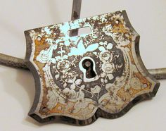 Vintage Ornate Etched Metal Lock for Jewelry by ADoseOfAlchemy, $18.50