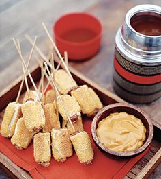 Pigs in a blanket - on sticks! All food is better when it's on a stick, right?!