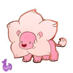 Hes like the cotton candy of the jungle! Warp anywhere you want to with your very own Lion.  This 1.5 wide (38mm) hard enamel pin is made with Rose Gold metal and has two posts with rubber backs.