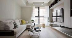 Apartment in Taipei City, Taiwan, Designed by Studio de Alfonso Ideas White Furniture, Wooden Flooring, Apartment Design, Living Room Decor, Living Rooms, Couch, Studio, Interior Design, Home Decor