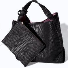 ZARA - NEW THIS WEEK - PRINTED LEATHER BUCKET BAG