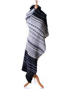 Knit Fair Isle Wrap