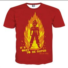 DBZ Anime Son Goku Its Okay To Be Super Set On Fire T-shirt #DBZ #anime #SonGoku #Its #Okay #To #Be #Super #Set #On #Fire #T-shirt