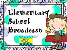 Elementary School Broadcast includes 34 slides with scripts and graphics to… Elementary Library, Elementary Schools, Morning Announcements, Student Leadership, School Jobs, Kids News, Assistant Principal, Teaching Technology, Student Council