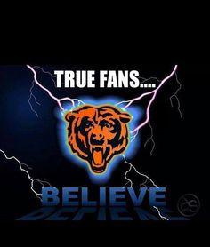True Fans Believe! Chicago Football, Bears Football, Football Baby, Chicago Blackhawks, Chicago Bulls, Football Team, Football Memes, Chicago Bears Nails, Chicago Bears Baby