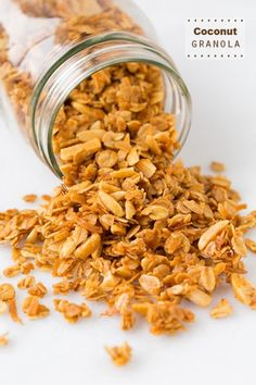 Coconut Granola - You will love this coconut granola. It is crunchy, it's loaded with coconut flavor, it has just the right amount of sweet, it's perfectly toasted to golden perfection, and last but not least it's very easy to make.