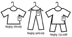 Best practice for hanging clothing