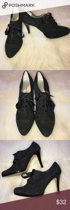 """Tahari """"Louise"""" Heels Black lace-up heels. Style name """"Louise."""" 4"""" heel Tahari Shoes Heels"""