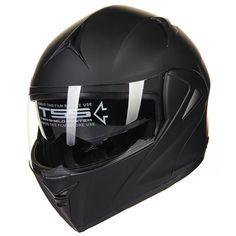 7810c9d1 ILM 10 Colors Motorcycle Dual Visor Flip up Modular Full Face Helmet DOT L  Matte Black * Visit the image link more details. (This is an affiliate link)