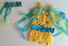 The Little Mermaid Inspired Flounder Costume by LovCouture on Etsy, $45.00