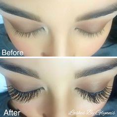 Lash extensions lashes eyelashes @glynnis_lyons on Instagram lash artist