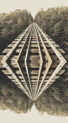Stock Photo : Falling Down the Bridge