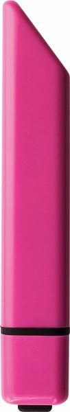 From Rocks-Off comes a powerful 10 speed Bamboo Bullet. Features a unique angled tip to deliver pleasure right where you want it. Deseret enough to carry in a purse or while traveling. Measures 3.75 inches long by .5 inch wide. Waterproof. Requires 1 AAA battery, included. Pink Passion.