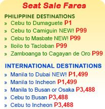 Piso fare from Cebu