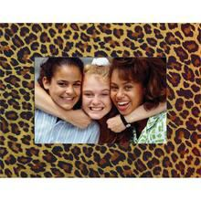 Leopard Paper Frame with name meaning on artwork paper of your choice.