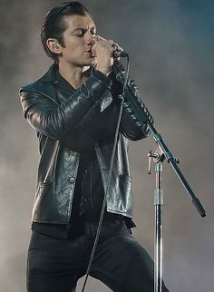 by Josh Withers...Alex Turner of AM at Outside Lands Festival 2014