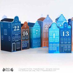 Blue Advent Calendar - Christmas in the city Christmas In The City, Christmas Night, Christmas Countdown, Diy Advent Calendar, Countdown Calendar, Inkjet Printer, Laser Printer, Harry Potter Printables, Anniversaire Harry Potter
