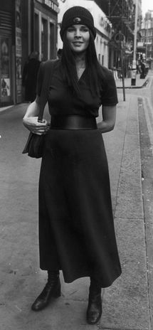 """Ali in the city- 1971  Have always liked her """"style"""" not her lifestyle...  She was and is still stunningly attractive."""