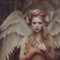 #Angel clutching #heart   Photo Manipulations by CrystalClear-Art