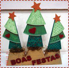 Enfeite de árvores de Natal de MDF.