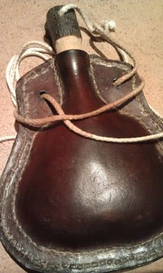 Leather water bottle - Like the ones in 'The Last Camel Died at Noon' one of my favorites in the series!