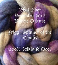 Falkland 56s Wool Spinning Top roving  PHAT FIBER by AlmaPark, $13.50