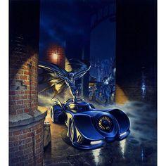 Mark Stutzman is an American artist that has created numerous painted promotional art for Batman movies and DC Comics. Joker Batman, Batman Comics, Batman Y Robin, Batman Poster, Batman Comic Art, Dc Comics Art, Batman And Superman, Batman Batmobile, Batman Bike