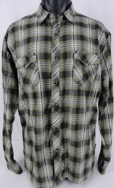 NWT Chaps Big Sky Mens XXL Plaid Shirt Black White LS Button ...