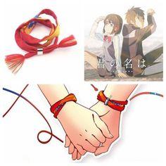 Movie Kimi no Na wa Your Name Miyamizu Mitsuha Bracelet Rope Jewelry Cosplay Kimi No Na Wa, Infinity Charm, Infinity Symbol, Cosplay For Sale, Your Name Anime, Gravity Falls Bill, Name Bracelet, Diy Bracelet, Vintage Display