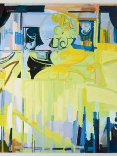 Sarah Awad - Reviews - Art in America. great surpise factor. there is a metal gate painted with the values. abstract yet identifyable.