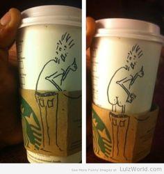 Good old Starbucks humor lol Lol, Haha Funny, Funny Cute, Funny Stuff, Hilarious, Funny Shit, Funny Things, Funny Humor, Humor Humour
