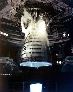 Space Shuttle main engine test firing